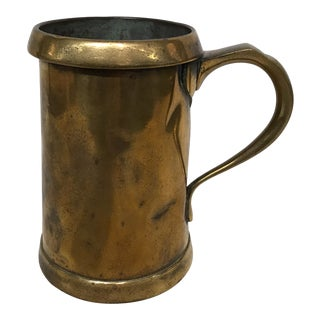 19th Century Brass Mug For Sale