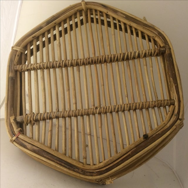 Rattan Brass-Edged Serving Trays - A Pair - Image 6 of 10