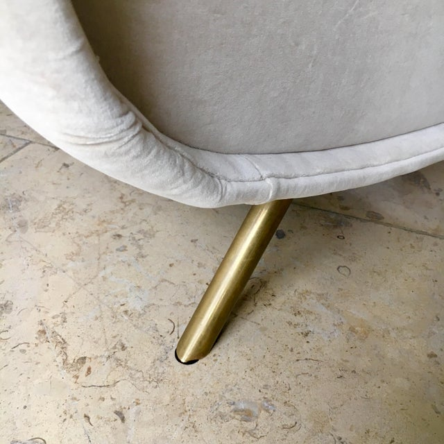 Tan Early Marco Zanuso Designed Two Seater Sofa Circa 1950 For Sale - Image 8 of 10