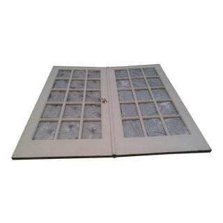 Solid Wood Double French Doors - a Pair