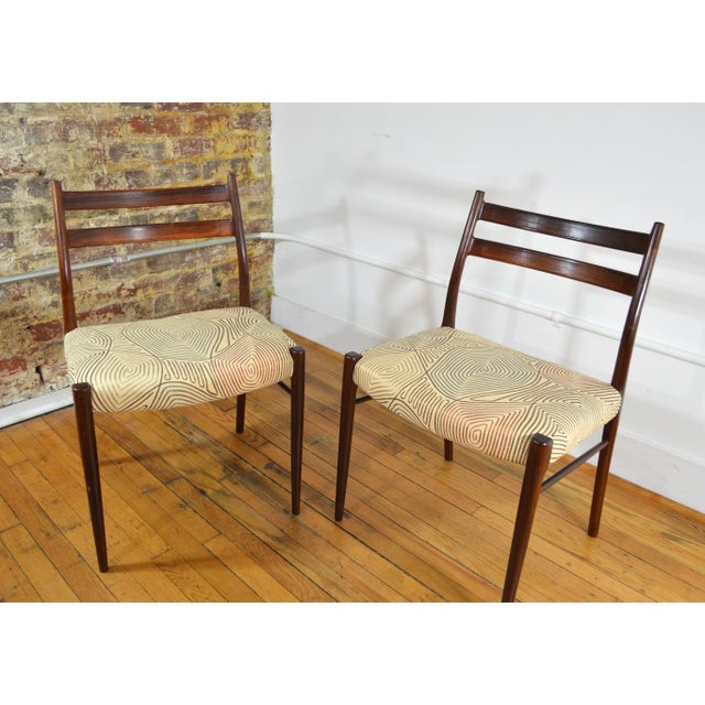 Danish Modern Arne Wahl Iversen Rosewood Dining Chairs - a Pair For Sale - Image 3 of 6