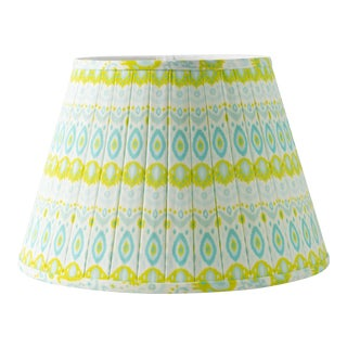 "Kathryn Pleated 18"" Lamp Shade, Lime For Sale"