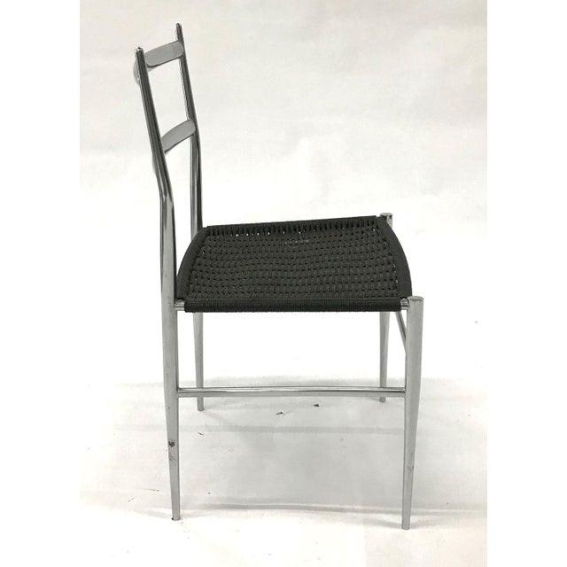 "Black ""Leggera"" Chrome Chair by Gio Ponti, 1960s For Sale - Image 8 of 11"