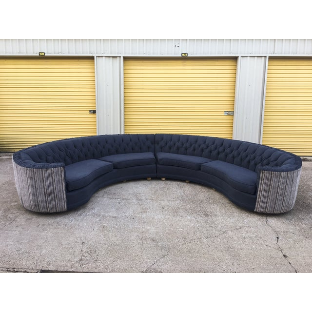 Mid-Century Semi-Circular Sectional - Image 4 of 11
