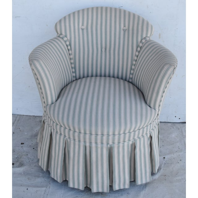 Vintage Scalamandre Upholstered Vanity Accent Side Chair For Sale - Image 12 of 12