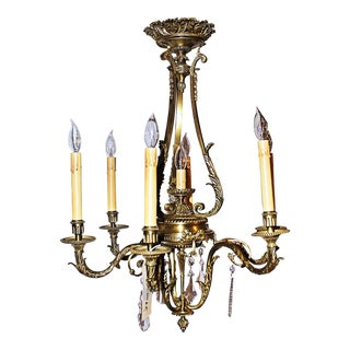 French Empire Lost-Wax Bronze Chandelier For Sale