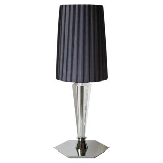 Italian Faceted Crystal Table Lamps (2 Available) For Sale