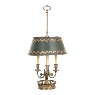 Early 19th Century French Brass and Tôle Bouillotte Lamp For Sale