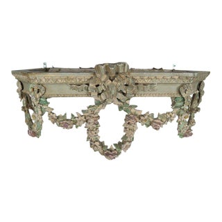 19th C. French Painted Bed Canopy