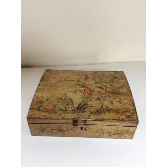 Yellow Chinoiserie Domed Box For Sale - Image 4 of 6