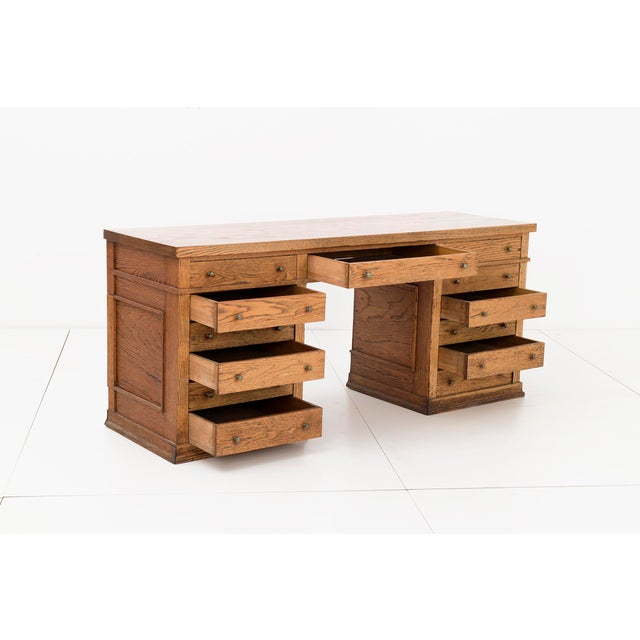 Frank Lloyd Wright Pedestal Desk from Frank L. Smith Bank - Image 4 of 10