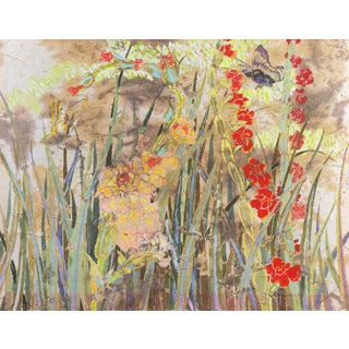 'Wild Flowers in the Breeze' by Peter Hsu, Chinese-American Horticultural Artist For Sale