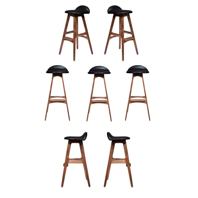 Black Set of 7 Boyd Stools For Sale - Image 8 of 8