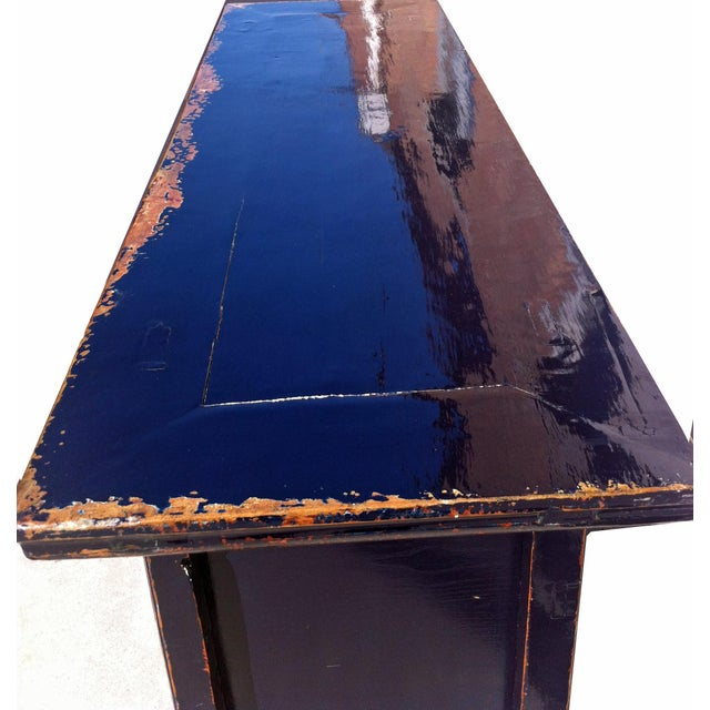 Dark Blue Altar Sideboard For Sale In Boston - Image 6 of 9