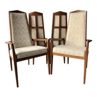 Set of Four Foster McDavid High Back Dining Chairs