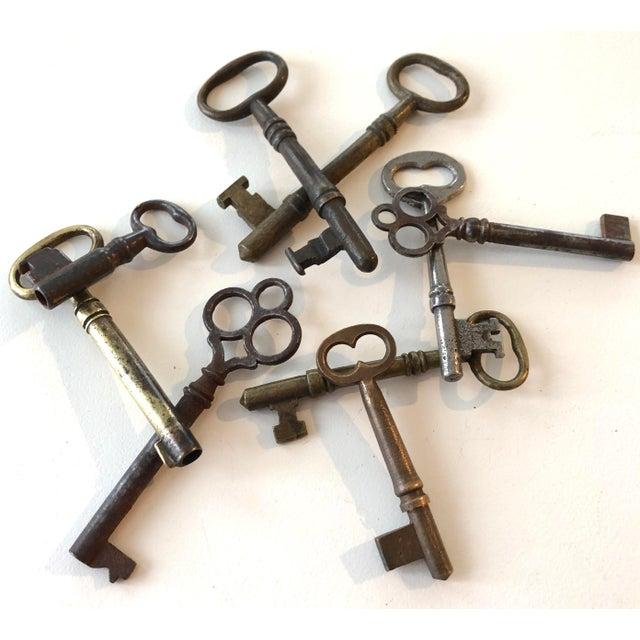 Set of 9 Antique & Vintage Skeleton and Door Keys For Sale - Image 13 of 13