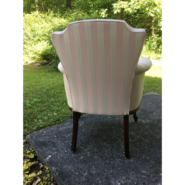 Late 20th Century Striped Perfection Chair For Sale - Image 4 of 13