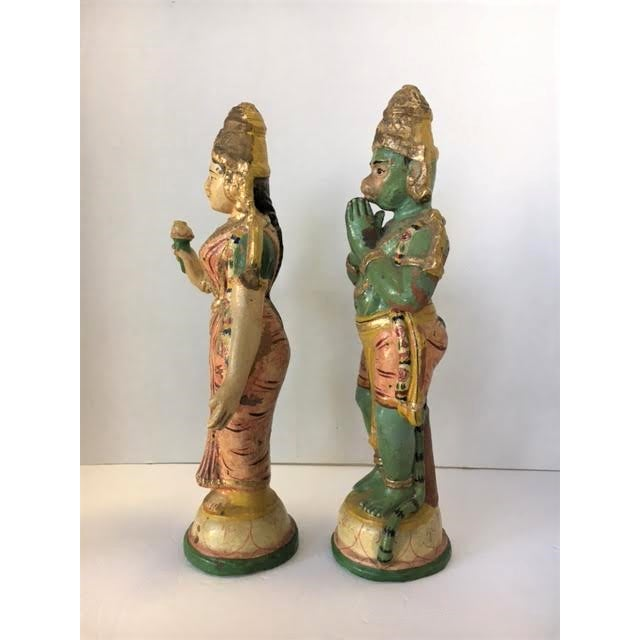 Terra Cotta Indian Figurines - A Pair - Image 7 of 7