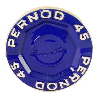 Vintage Pernod 45 French Ash Tray For Sale