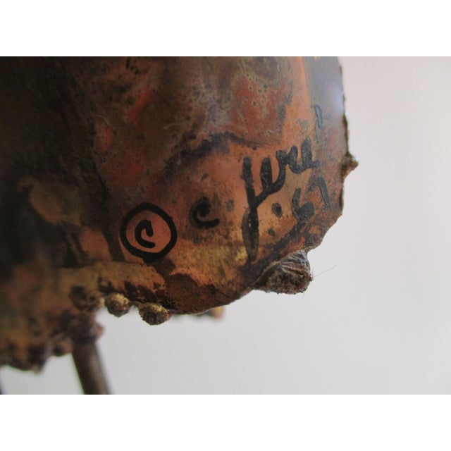 """""""Owl on Branch,"""" Early Sculpture by Curtis Jere - Image 5 of 11"""