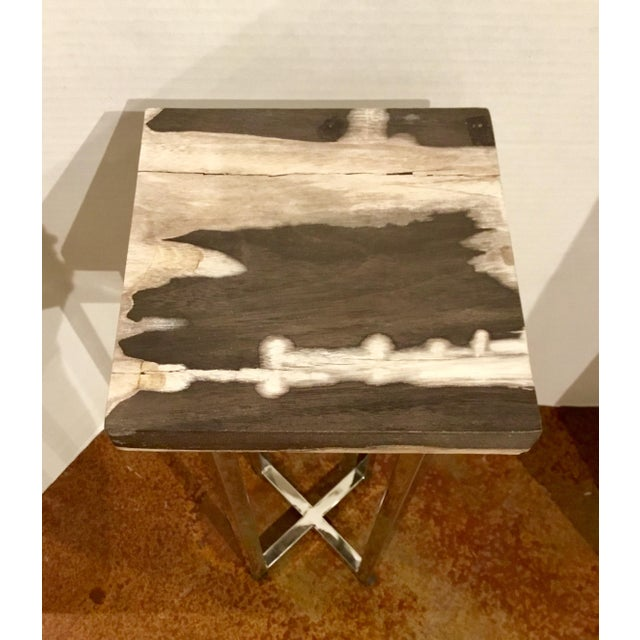 Contemporary Contemporary Interlude Home Argo Square Drinks Table For Sale - Image 3 of 5
