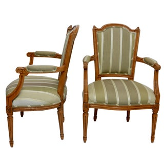 Pair of Louis XVI Fauteuils Armchairs, French, Circa 1800 Preview