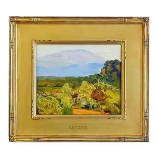 George Barker (1882-1965), Abstract Landscape Oil Painting