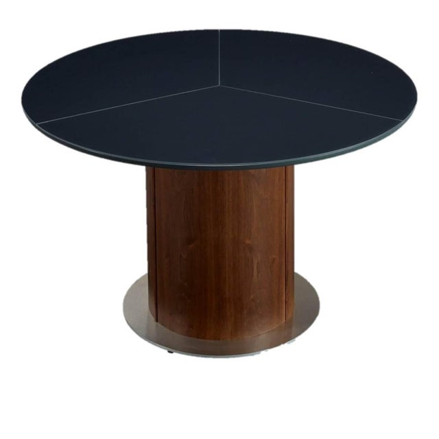 Black Extending Roung Dining Table by Skovby - Image 1 of 3