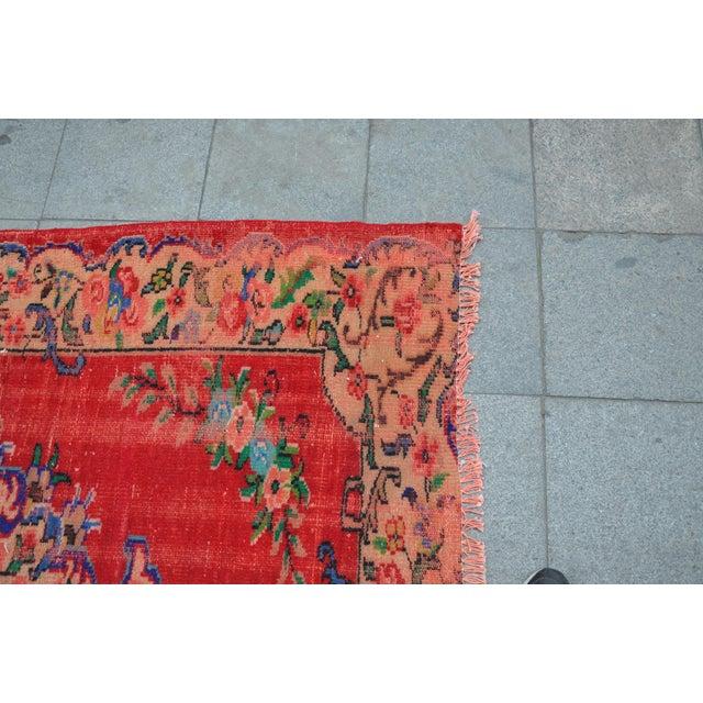 Vintage Turkish Anatolian Rug - 5′4″ × 8′2″ - Image 6 of 6