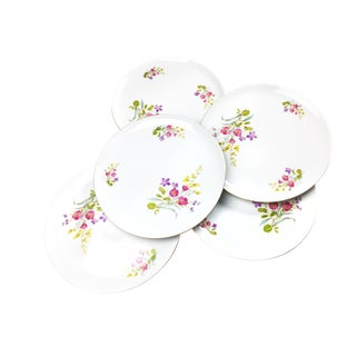 Vintage Eschenbach Baronet Fine China Floral Plates - Set of 5