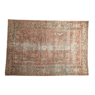 "Vintage Distressed Heriz Carpet - 5'7"" X 7'11"""