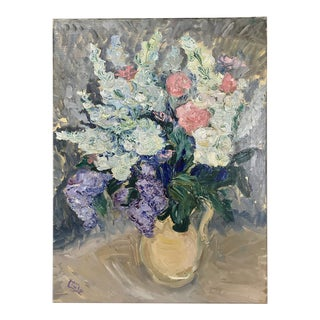 Antique Oil Painting on Canvas For Sale