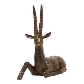 Brass and Copper Ibex by Sergio Bustamante Mexico 1970s For Sale