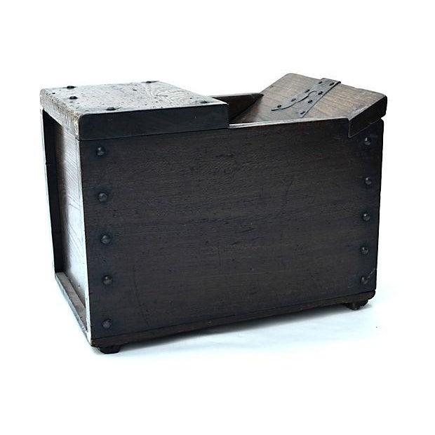 Antique Japanese Keyaki Money Box - Image 4 of 7