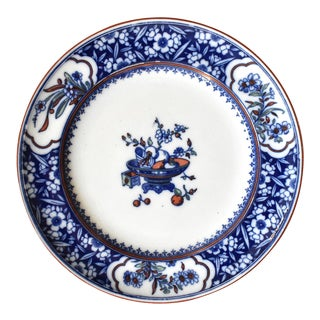 Antique Minton Chinese Blossom Blue & White Transferware Plate For Sale