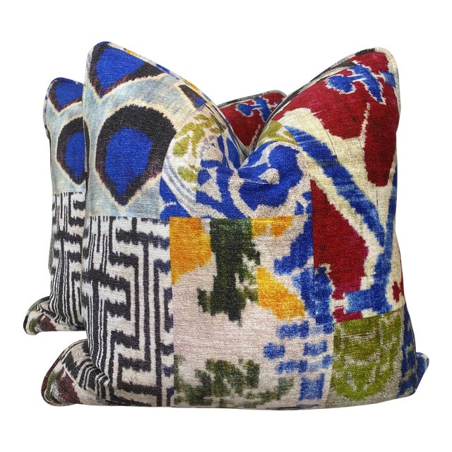 """""""Haute Bohemian"""" in Red 22"""" Pillows-A Pair For Sale"""