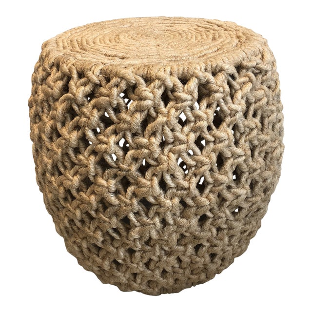 Made Goods Angela Natural Abaca Rope Side Table For Sale