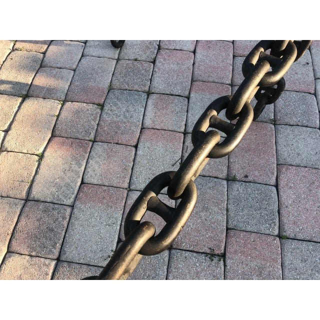 Ship Iron Chain Link Coffee Table For Sale In Miami - Image 6 of 10