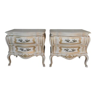John Widdicomb French Louis XV Style Nightstands - a Pair For Sale