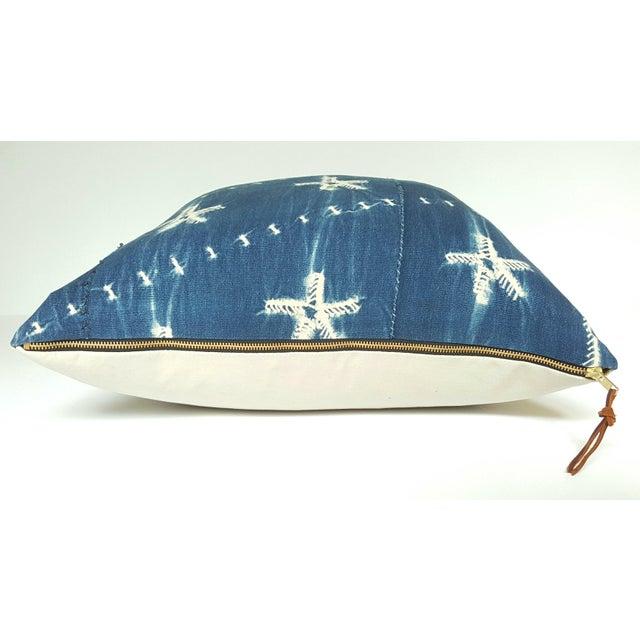 Vintage African Indigo Mudcloth Pillow - Image 3 of 4