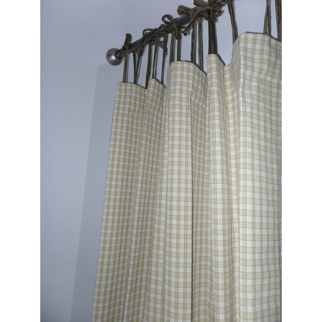 French Country Custom Draperies - a Pair For Sale - Image 3 of 8