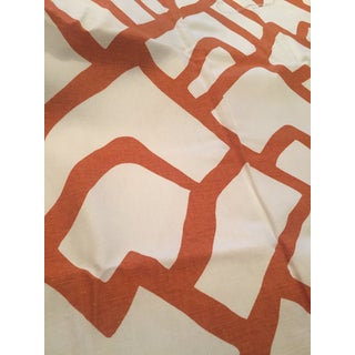 Schumacher Zimba Orange Fabric - 4 Pieces For Sale