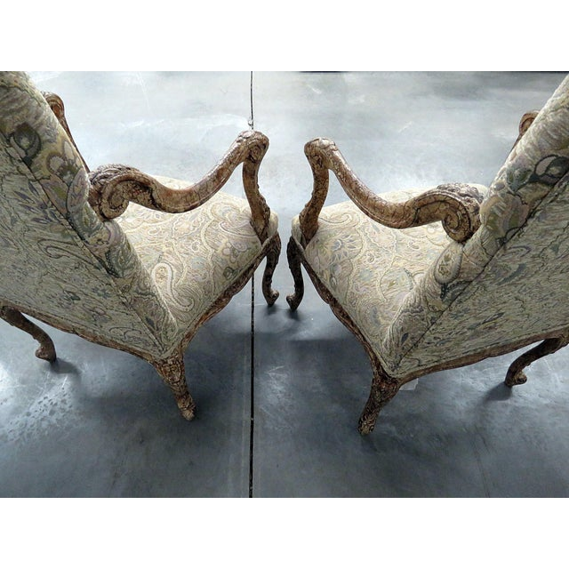 Louis XV Style Tapestry Armchairs - a Pair For Sale - Image 9 of 12