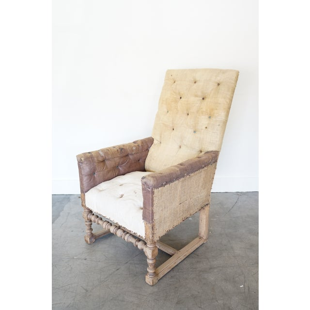 Antique Tall Back Chair For Sale - Image 4 of 9