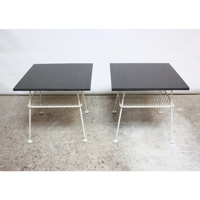 Pair of Slate and Iron Tables by Russell Woodard - Image 11 of 11