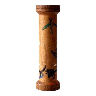 Antique Folk Art Industrial Thread Spool