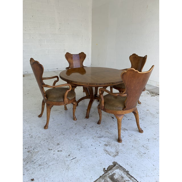 1990s Century for Robb & Stucky Burled Walnut 'Gaudí' Style Dining Set - 5 Pieces For Sale - Image 5 of 11