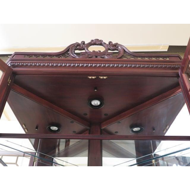 Brown Henkel Harris Model #1192 Chippendale Mahogany Corner Cabinet For Sale - Image 8 of 13