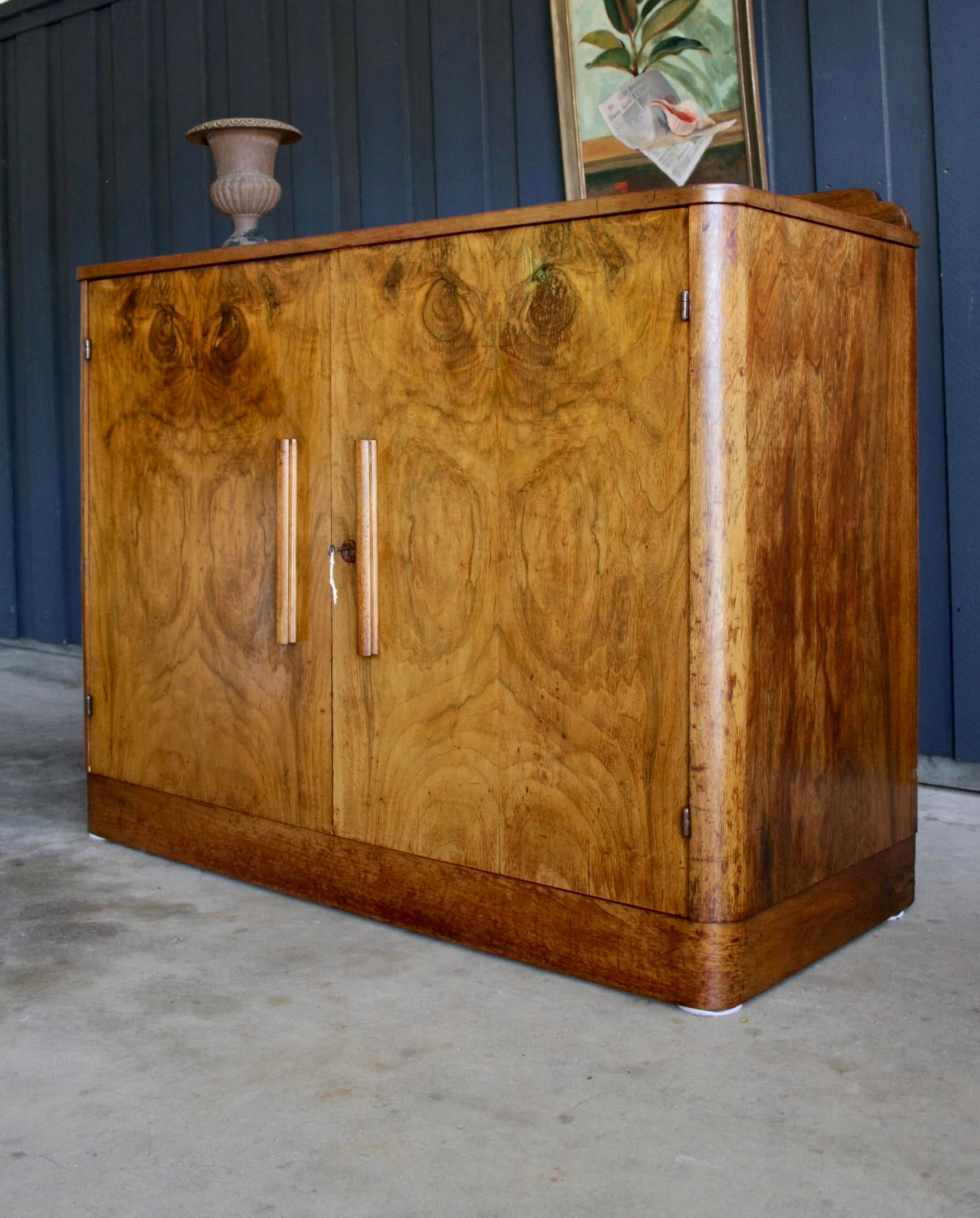 Art Deco Burl Wood Cabinet Chest For Sale In Dallas   Image 6 Of 13