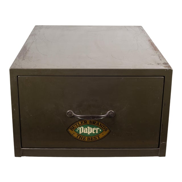 Industrial Army Green Factory Cabinet C.1940 For Sale